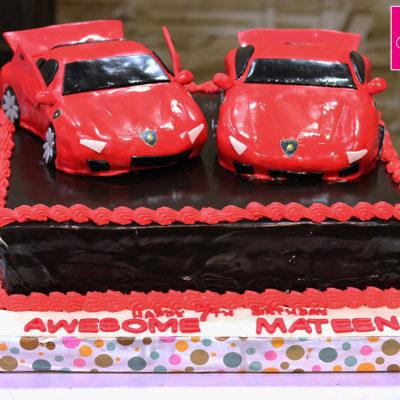 Lamborghini Cars Birthday Cake