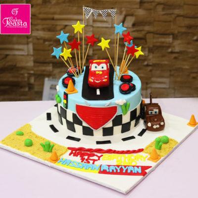 Lightning McQueen & Mater Birthday Cake