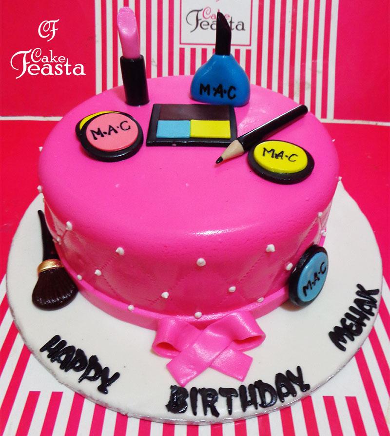 Makeup Kit Pink Makeup Cake