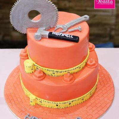 Mechanical Engineers 2 Tier Birthday Cake