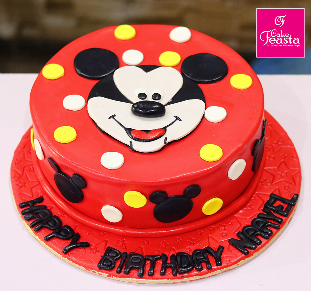 Mickey Mouse Red Birthday Cake