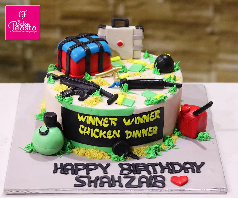 Pubg Lovers Birthday Cake Custom Cakes In Lahore Cake Feasta