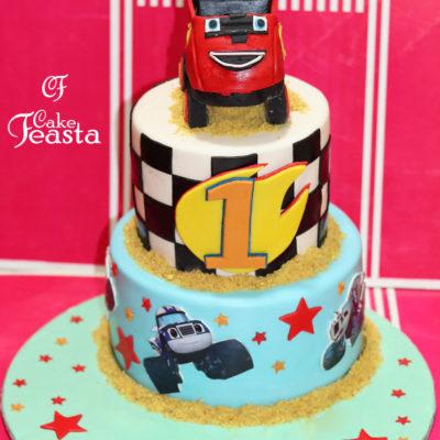 Racing Jumbo Car Birthday Cake