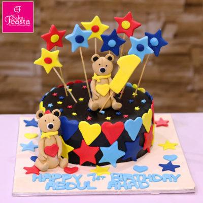 Rockstar Teddy Bear Birthday Cake