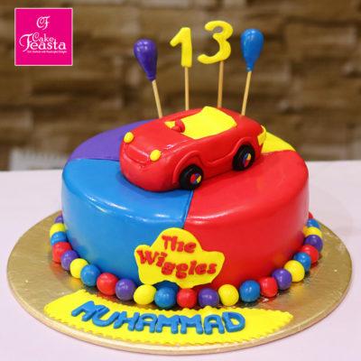 Super Car Kids Birthday Cake