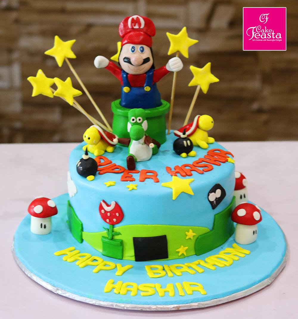 Super Mario Kids Birthday Cake Customized Cakes In Lahore
