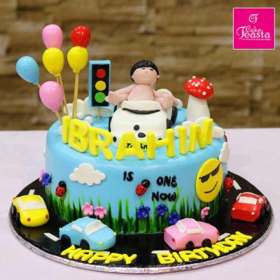 Baby's Traffic Teacher Birthday Cake
