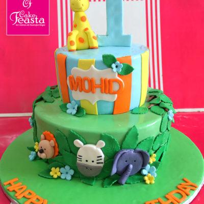 Jungle Gym 2 Tiers Birthday Cake