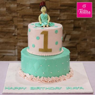 1st Girl Birthday Cake