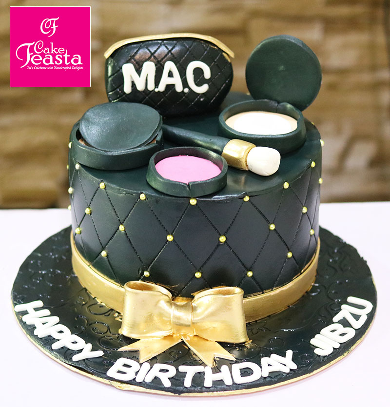 MAC Makeup Kit Birthday Cake- Online Cake Shop