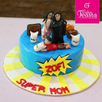 Super Mom Birthday Cake