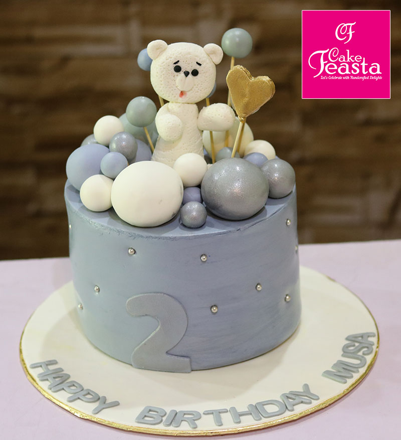 Teddy Bear Theme Birthday Cake