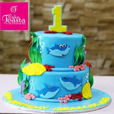 Shark Fish Birthday Cake