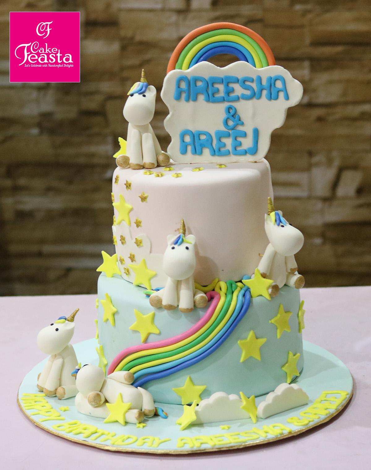 Unicron 2 Tier Birthday Cake