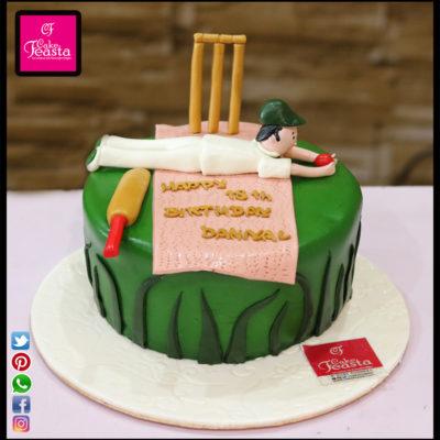 Cricket Lovers Birthday Cake