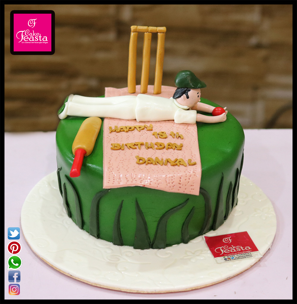 Cricket Lovers Birthday Cake