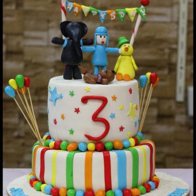 Colorful Kids Birthday Cake