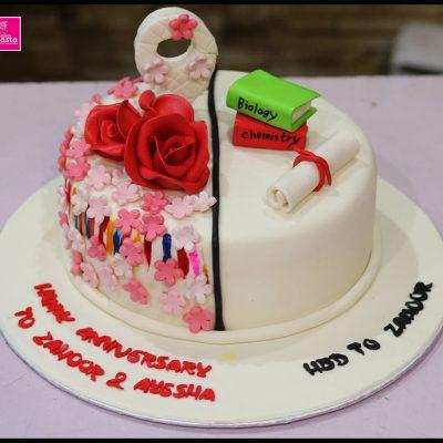 Anniversay & Birthday Theme Cake