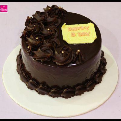 Chocolate Flowers Birthday Cake