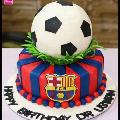 F.C Barcelona Birthday Cake