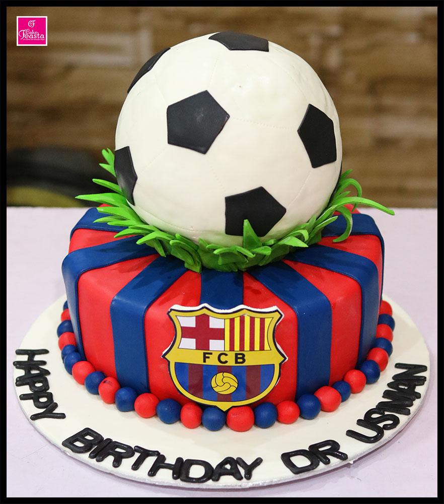 F C Barcelona Birthday Cake Customized Cakes In Lahore