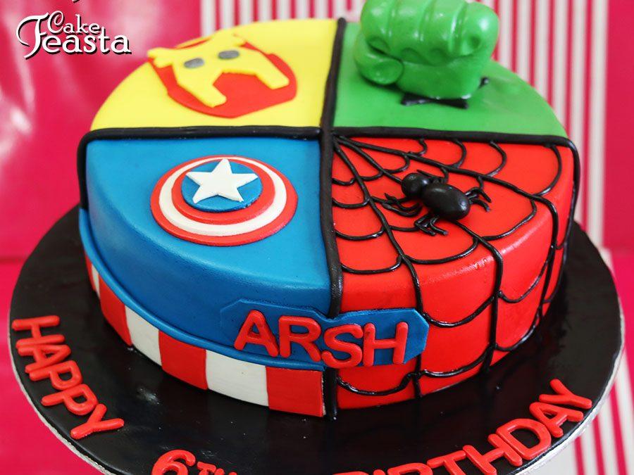 Superhero Theme Cakes