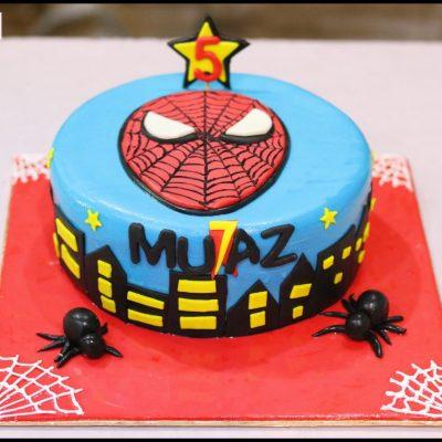 Spider-man Theme Birthday Cake