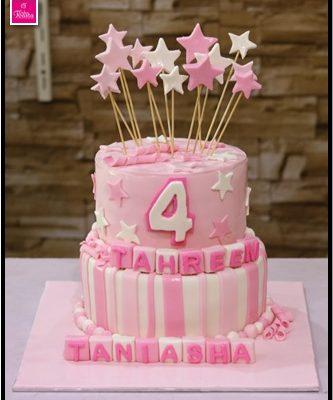 2 Tier Princess Birthday Cake