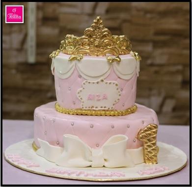 Princes Theme Girls Birthday Cake