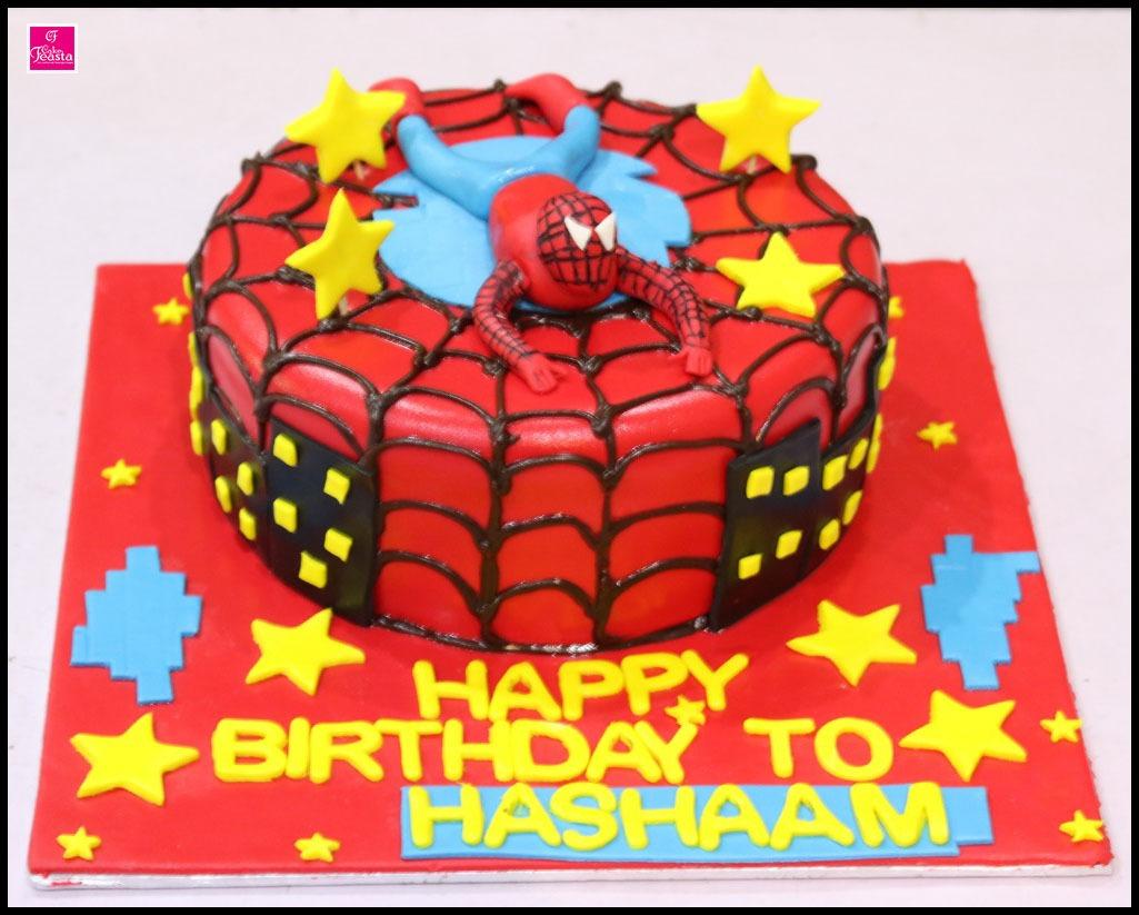 Spiderman Theme Birthday Cake Lahore Cakes Cake Feasta