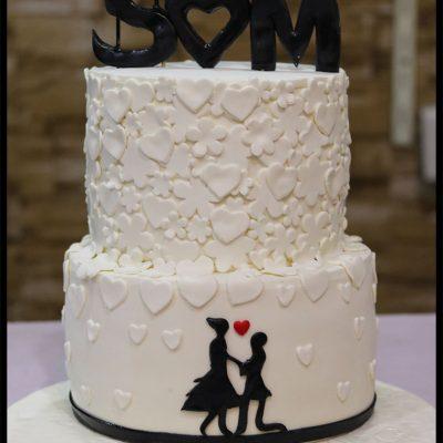 2 Tiers Anniversary Cake