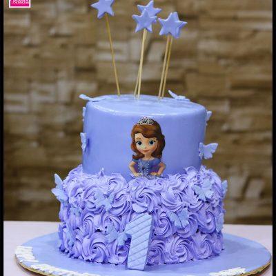 Princess Theme Girls Birthday Cake