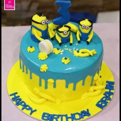 Minnions Theme Kids Birthday Cake
