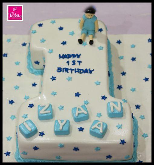 1st Boy Birthday Cake