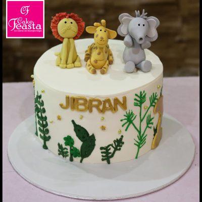 Animals Kids Birthday Cake