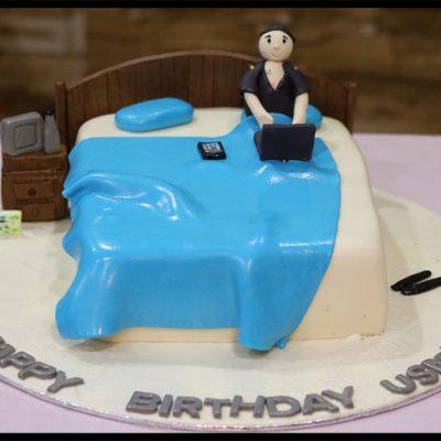 Bed Theme Birthday Cake