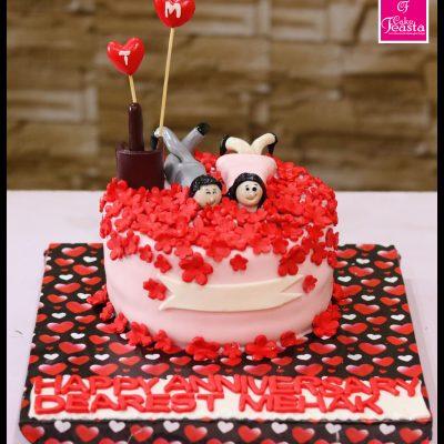 Couple Anniversary Theme Cake