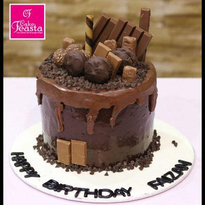 Full Chocolate Birthday Cake