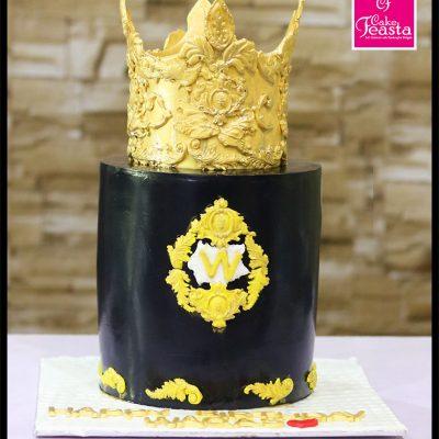 King Theme Birthday Cake