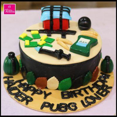 PUBG Theme Birthday Cake