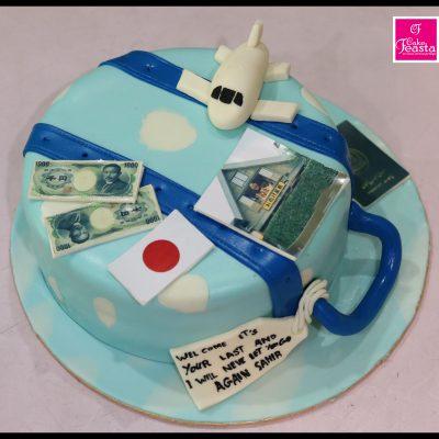 World Tour Theme Cake