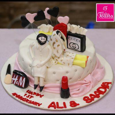 1st Anniversary Theme Cake