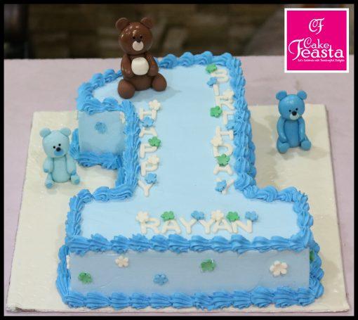 1st Birthday Digit Cake