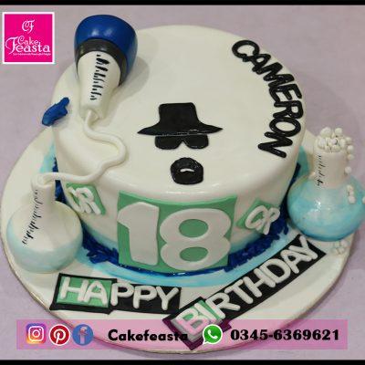 Camerow Theme Birthday Cake