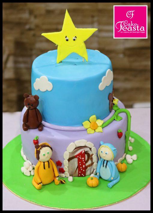 Cartoon Theme Kids Birthday Cake