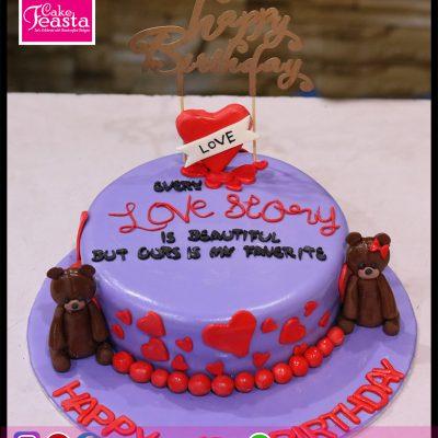 Love Story Girl Birthday Cake