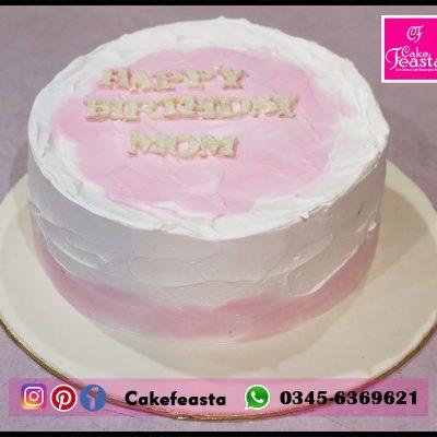 Mother Cream Birthday Cake