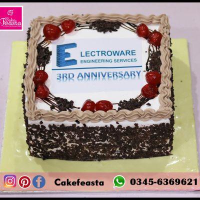 3rd Anniversary Cooperate Cake