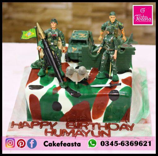 Army, PUBG Theme Birthday Cake