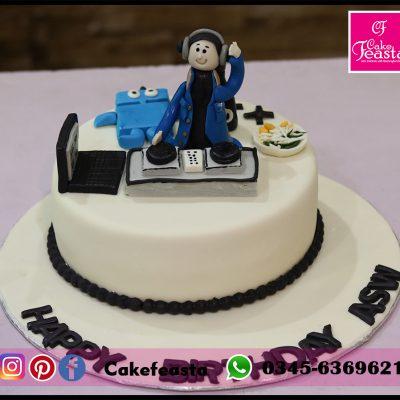 DJ Theme Boys Birthday Cake